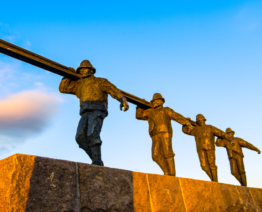 Minnesmerke over Kiruna Railroad Workers